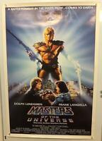 MASTERS OF THE UNIVERSE MOVIE POSTER Dolph Lundgren HE-MAN Skeletor 1987 ROLLED