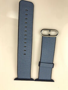 Original Apple Watch Woven NYLON Band 42MM 44MM Navy/Tahoe Blue EVT Prototype