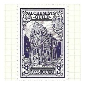 Discworld Stamp 2016 Alchemists Guild Hall 3p Building Ankh-Morpork Three Pence