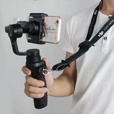 Sangle cou lanière noire w/sac rangement pour dji Osmo mobile 2/1 à main cardan