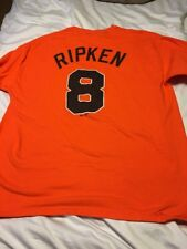 Vintage Majestic  Xl  Baltimore Orioles Baseball Orange Shirt Cal Ripken Jr #8