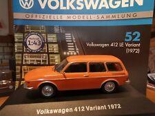 VW 412 LE Variant von 1972 in orange 1:43 von Deagostini Nr.52 NEU und OVP