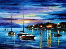 "Mystery Of The Night — Oil Painting On Canvas By Leonid Afremov. Size: 40""x30"""