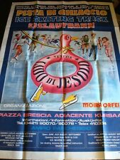 LIDO DI JESOLO Huge Vintage Travel Poster VENICE ITALY Ice Skating Rink 1970-80s