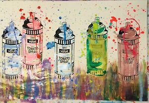 MR CLEVER ART VINTAGE TESCO SPRAY CANS MULTIPLES pop contemporary Urban street