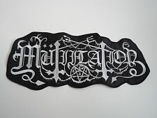 MUTIILATION BLACK METAL EMBROIDERED BACK PATCH