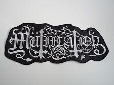 MUTIILATION BLACK METAL EMBROIDERED BACK PATCH