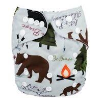 2018 New Baby Pocket Cloth Diaper Nappy Reusable Washable Bear