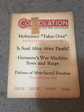 Original Germany Consolation (Awake) Nov 11, 1942 Jehovah's Witnesses Watchtower
