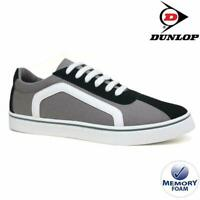 MENS DUNLOP MEMORY FOAM GREY CANVAS PLIMSOLLS PUMPS SHOES TRAINERS SIZES 7-12