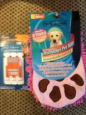Dog Animal Microfiber Pet Wash Mitt + Sergeants Flea & Tick Treatment 33-66 Lbs.