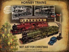 """HORNBY TRAIN SET :""""NOT JUST FOR CHRISTMAS"""" VINTAGE METAL SIGN : HOME DECOR  GIFT"""