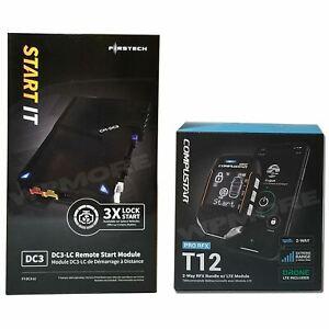 Compustar PRO CSXP-9900-DC RFX-P2WT12-SS DR-X1 Drone Bundle + FT-DC3-LC Start IT