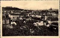 Brno Brünn s/w AK 1957 Celkový pohled Gesamtansicht mit der Burg im Hintergrund