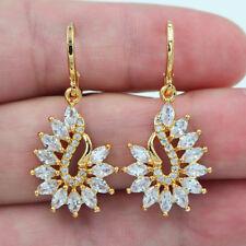 18K Gold Filled Women Luxury Mystical Marquise Topaz Zircon Wedding Earrings