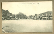 VINTAGE PHOTO POSTCARD HIGH STREET PARK WADSWORTH OH 1948 STREET CARS STORES WV