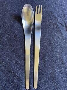 Georg Jensen (Denmark) Arne Jacobsen  (2 Pc) Salad Serving Fork/Spoon Set