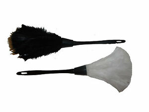 Feather Duster Black or Feather Duster White French Maid Fancy Dress Accessory