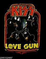 KISS cd cvr Love Gun LOVE GUNNER '77 Official SHIRT SMALL gene simmons oop