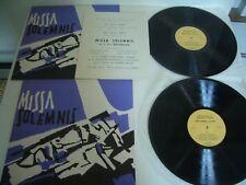MISSA SOLEMNIS BEETHOVEN 2 LP CHORALE PLANTAGENET MANFRED MULLER  STUTTGART