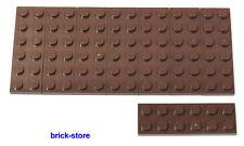 LEGO® /  2x6 Platten braun / 8 Stück
