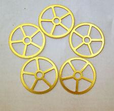 """Steampunk Watch clock gears cogs wheels parts - 5 LARGE Brass gears 33 mm 1.5"""""""