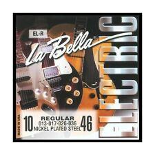 JEU de Cordes LA BELLA EL-R / REGULAR 10/46+bonus 2 cordes SI-MI Made in USA