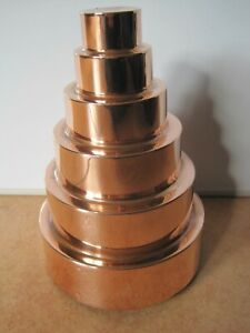 ANTIQUE VICTORIAN LARGE 6 TIERED COPPER JELLY MOULD