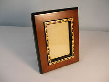 """Fine Wooden Frame with Marquetry/Inlaid Design~5 3/4"""" x 7 3/8"""" for photo 3 x 4.5"""
