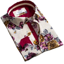 Russell & Giles Men`s Pure Cotton Designer Paisley Floral Shirts Formal Casual