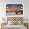 3D Dusk River Sky 026 Open Windows WallPaper Murals Wall Print AJ Carly