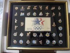 OLYMPIC PINS SERIES 1, 2 AND 3 1981/1982 FRAMED IN ORIGINAL BOXES