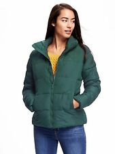 OLD NAVY Frost Free Quilted Puffer Winter Jacket XS Winter Spruce Green  NEW NWT