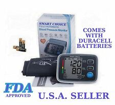 FDA Approved Arm Blood Pressure Meter with WHO INDICATOR, FUZZY LOGIC Batteries