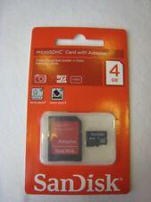 SanDisk MicroSDHC 4 GB Speicherkarte - 4GB Micro SDHC - SD HC - NEU/OVP