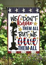 We Don't Know Them Military Double Sided Flag *Garden Size* Fg1342