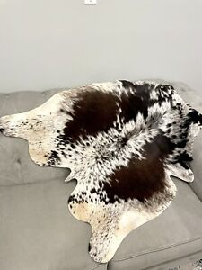 "New Genuine Cowhide Rug Cow skin Cowhide Leather Carpet Area Rug- (41""x41"")-B47"