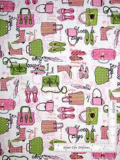 Jet Set Bag Shoe Purse Fashion Cotton Fabric Kanvas Studio (Benartex) - Yard