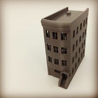 20th Century Brownstone 4 Story Building - N Scale 1:160 - 3D PRINTED Model USA