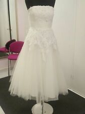 Lace Strapless Short Regular Wedding Dresses