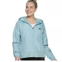NWT Women's Adidas Sport to Street Wind Jacket Size M Blue Ash Gray Legend Ink