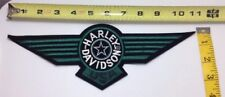 Harley Davidson Emblem Patch Military Star Green Wings Logo Large XXL 11'' VTG
