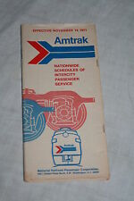 Vintage Amtrak Railroad Nationwide Schedules of Intercity Passenger Service 1971