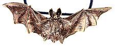 Nr. 13 großer plastischer Fledermaus Anhänger Bronze Gothic LARP Vampir Bat