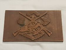 VERY SCARCE MILITARY US-1870's WARS US CAVALRY/ INFANTRY BRASS ENGRAVING BLOCK