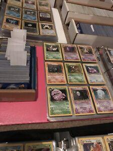 50 Lot PLAYED Original Vintage Rare Pokemon Cards Holo 1st Edition Shadowless!