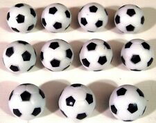 11 x Noir & Blanc 35 mm FOOTBALL / balles de baby-foot de football de table