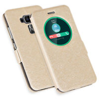 For ASUS ZenFone Mobiles Luxury Stand Window View PU Leather Flip Cover Case