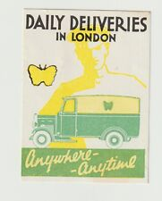 UK- Daily Deliveries In London- poster stamp Full Gum But has been hinged