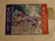 Tour Corsa Bici De France Grande Metallo Segno-Stagno in acciaio retrò/regalo bello Paris A